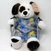 Build A Bear Get Well Plush with Broken Leg Hospital Gown Crutches Cast ... - $39.95