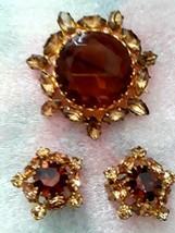 Truly Vintage Rhinestone Pin & Earring Set Austria - $29.70
