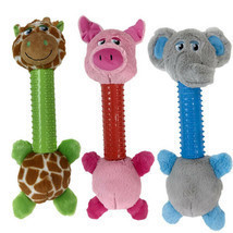 Dog Toys Silly Long Neck Plush Characters Tossers Giraffe Pig or Elephan... - $16.72+