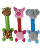 Dog Toys Silly Long Neck Plush Characters Tossers Giraffe Pig or Elephan... - £12.26 GBP+