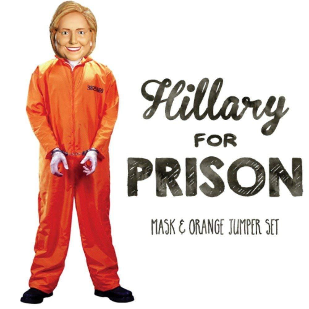 Hillary for Prison Deluxe Adult Halloween Costume
