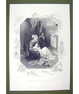 ENGLAND Maidens Prayer egend of Brown Rosary - SUPERB Quality Print Engr... - $16.20