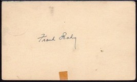 FRANK LEAHY Autograph. Signed on a government postcard. Famed Notre Dame... - $137.61
