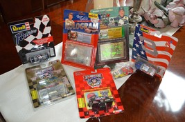 Lot of 7 NASCAR Diecast Cars Card Dale Earnhardt Bill Elliot Lebonte Kel... - $24.50