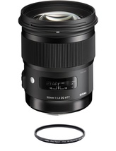 Sigma 50MM F1.4 Dg Hsm Art For Canon With Hoya 77mm Pro 1D Protector - $916.80