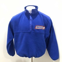 World Cup USA Snickers Vintage '94 Fleece 1/4 Button Up Pullover Sz L M ... - $21.77