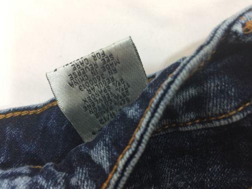 Vip Jeans Acid Wash Skirt Above Knee Regular Fit   Blue Cotton Size 11/12 image 12