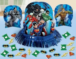 Justice League Table Decoration Centerpieces + Confetti Birthday party S... - $7.69