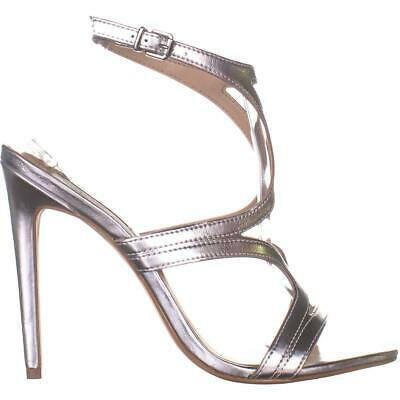 Steve Madden Sidney Ankle Strap Heeled Sandals 772, Silver, 10 US image 5