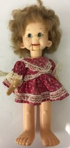 "Vintage 1974 Horsman Ventriloquist Tessie Talk Doll 18"" Needs Cleaning - $32.71"
