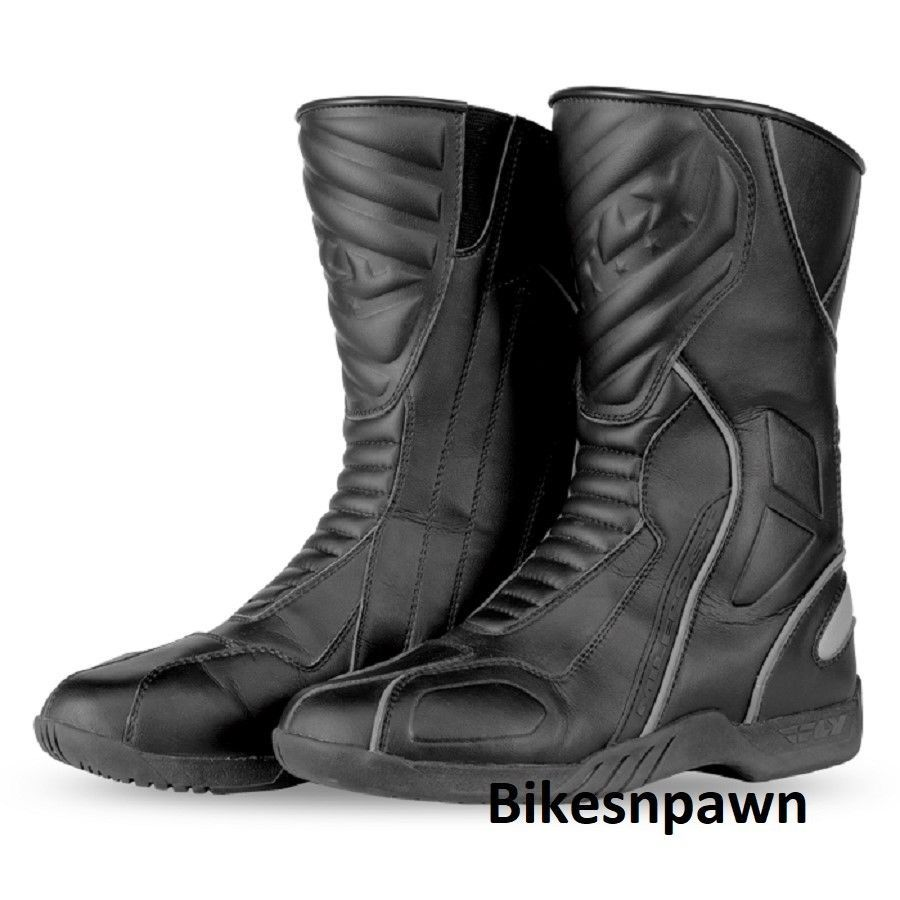 New Size 12 Mens Black FLY Racing Milepost II Motorcycle Street Riding Boots
