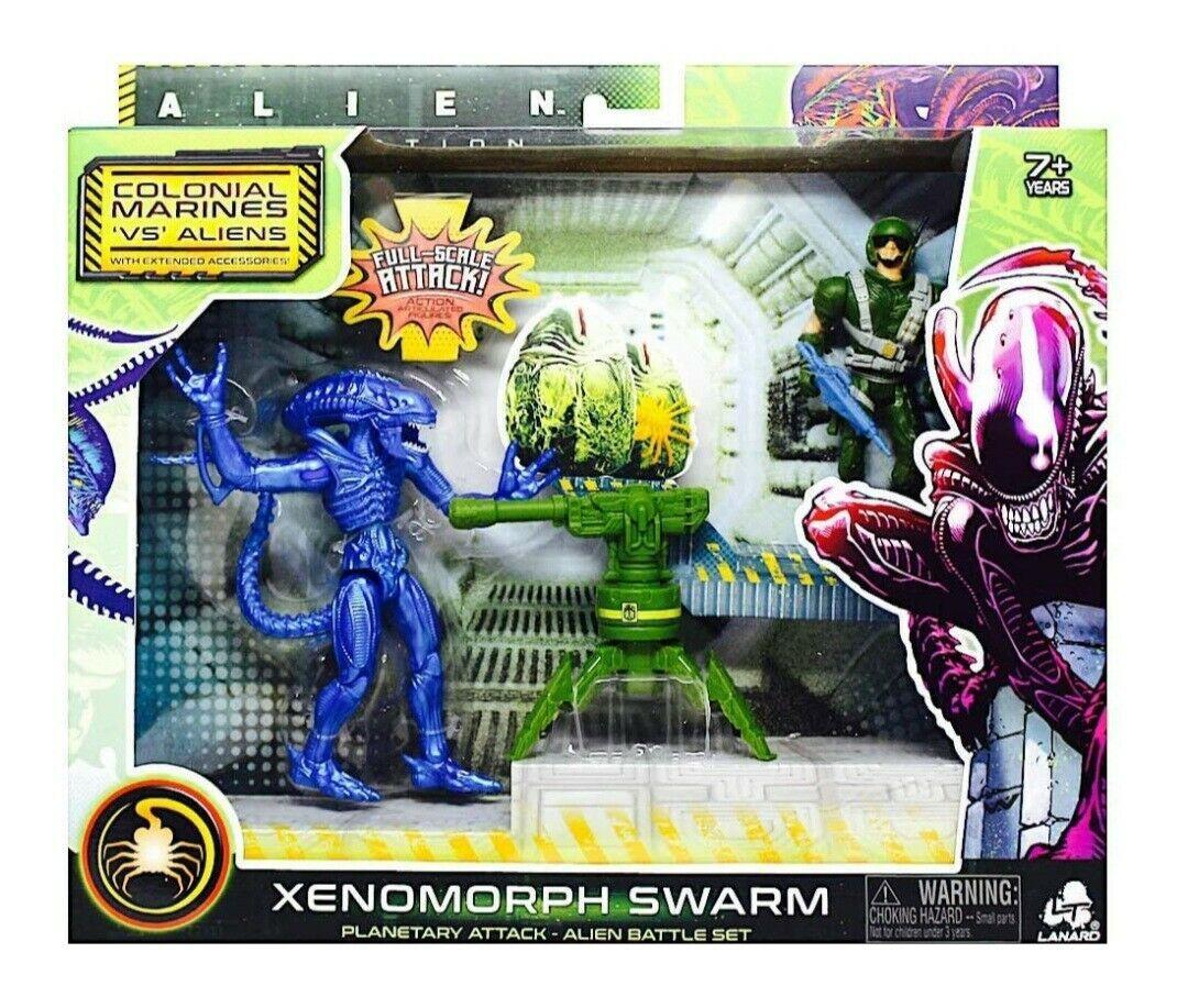 NEW SEALED Alien Xenomorph Swarm Warrior vs Marine Action Figure Set Walmart - $29.69
