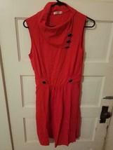 NWOT Huhot red sleeveless flared dress womens M - $39.99