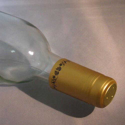Primary image for Gold with Black Grapes PVC Shrink Capsules For Wine Bottles - 30