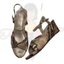 Easy Spirit Laralee Women's Brown Snakeprint Open Toe Slingback Heels Sz 10M - $44.88