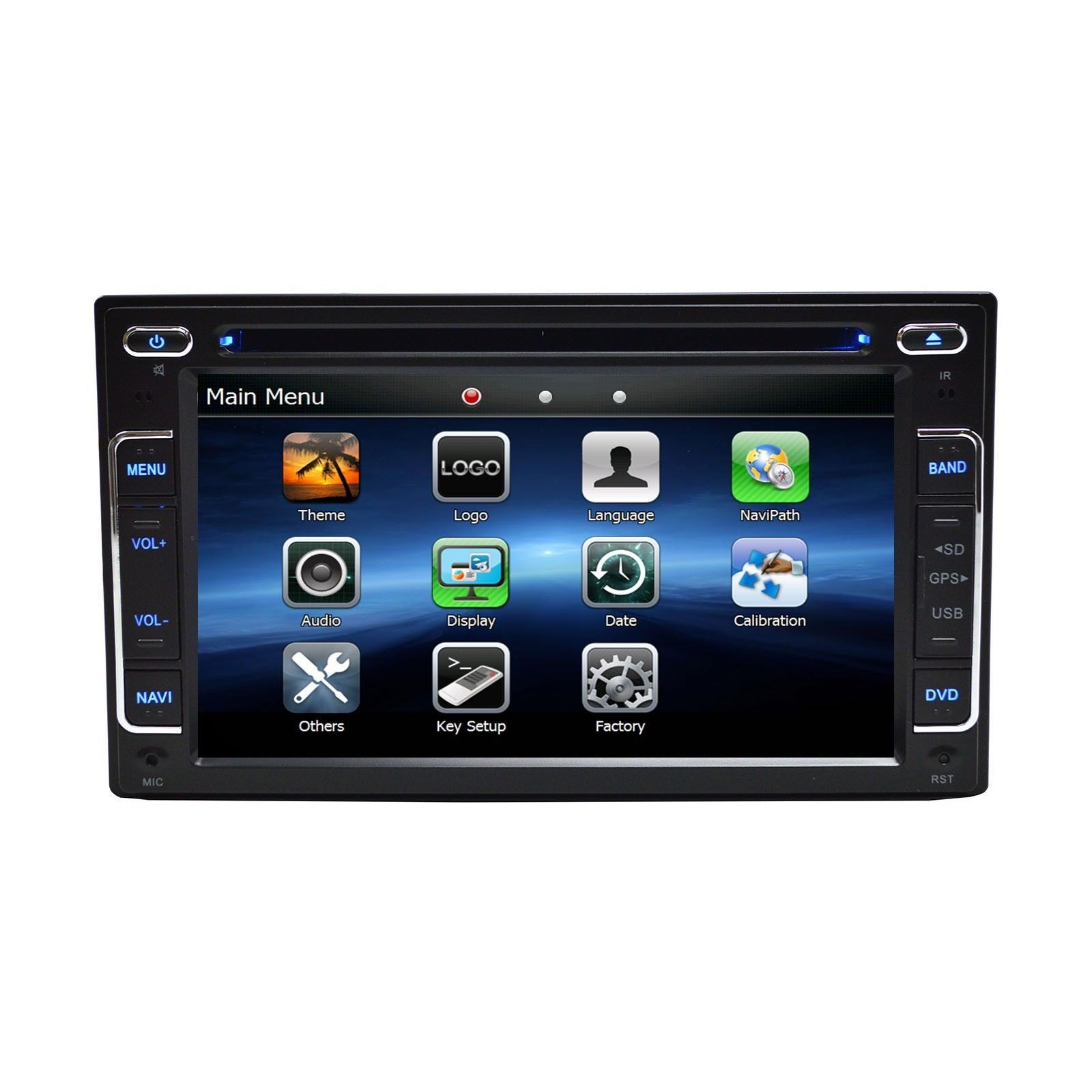 """6.2"""" DVD Navigation Touchscreen Multimedia Radio for 2012 Ford Taurus image 3"""