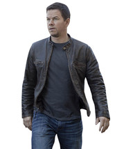 Contraband Mark Wahlberg Mens Moto Slim Fit Distressed Brown Leather Jacket image 1