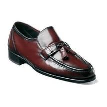 Florsheim Como Moc Toe Tassel Loafer Shoes Black Cherry Leather 17090-18  - $109.99