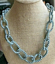 New with Tags Distressed J Crew Chain Link Statement Necklace 26 inch NWT - $39.59