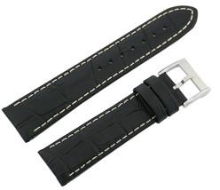 Hamilton 20/18mm Genuine Black Leather Strap SHIPSFREE - $158.40