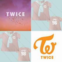 KPOP TWICE Pink T-shirt Sana Da Hyun Tshirt Unisex Tzuyu Cotton Short Sl... - $12.98