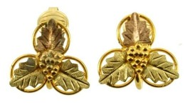 Vintage 12kt GF Black Hills Gold - Gold Filled Flower Clip Back Earrings... - $53.99
