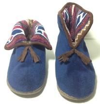 Muk Luks Fleece Ankle Bootie Slippers Rubber Sole 7-8 Medium - £12.04 GBP