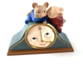Hallmark Christmas The Time for Love Mantle Clock Ornament 1995 Mice Mou... - $9.89