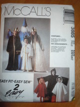 McCall's Adult Kids Wizard King Queen Angle Ghosts Costumes #3885   - $5.99