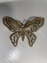 Vintage Sarah Coventry Gold Tone Butterfly Brooch Pin - $4.99
