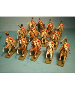 ESCI 1/72 41 PLASTIC FRENCH AND BRITISH NAPOLEONIC CAVALRY VERY WELL PAI... - $122.20