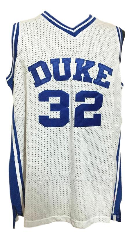 Christian laettner  32 college basketball jersey white   1