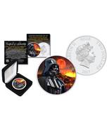2017 NZM1 oz Pure Silver BU Star Wars DARTH VADER Coin w/ MUSTAFAR Lava ... - $1.327,35 MXN