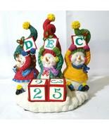 Fitz and Floyd Christmas Countdown Calendar Snowman Jamboree with Origin... - $74.24