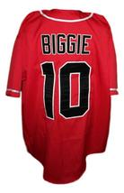 Biggie Smalls #10 Bad Boy Baseball Jersey Button Down Red Any Size image 2