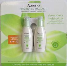 Aveeno Positively Radiant Sheer Daily Moisturizer Sunscreen SPF 30 2-Pack - $22.76