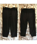 "Lululemon Dance Studio Crop II 20.5"" Black Micro Stripe Size 6 Pants Jog... - $39.59"