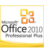Microsoft Office 2010 Professional Plus Key With Download 32/64 Bit - $9.00