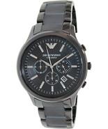 Emporio Armani AR1451 Black Ceramic Sportivo Chronograph Mens Watch - $117.71