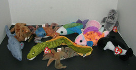 Ty Beanie Babies Set Of 11 Ocean Creatures Claude Slippery Jolly Goochy Paul - $34.98