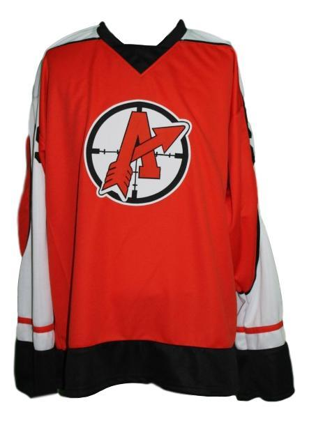 Glatt  69 orangetown assassins goon movie retro hockey jersey red   1
