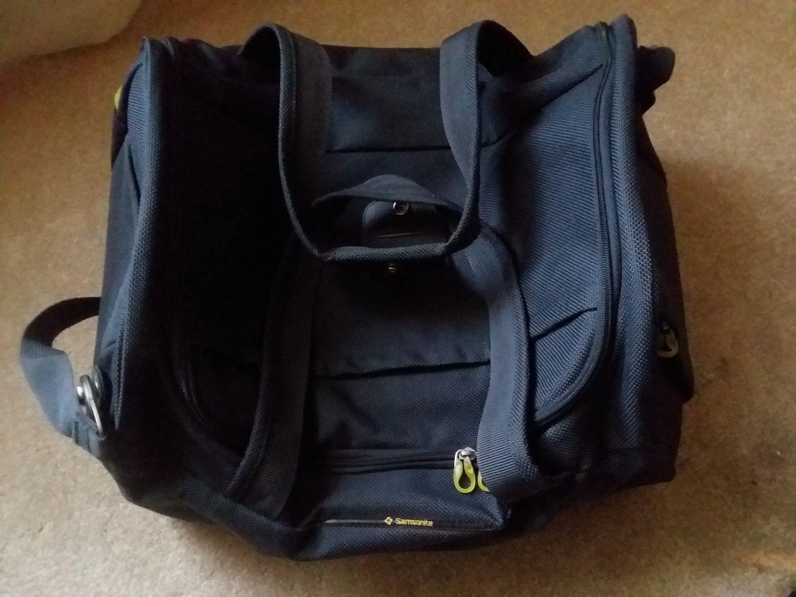 Samsonite Gray Yellow Travel Case Duffel Luggage