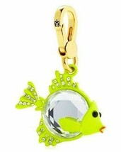 Juicy Couture Charm Crystal Gem Fish Goldtone NEW - $77.22