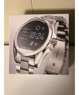 New Michael Kors Access Silver Glitz Bradshaw Smartwatch Pave MKT5000 Op... - $222.75