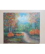 Original painting, acrylic paint on canvas, dimension landscape of the jungle - $395.00