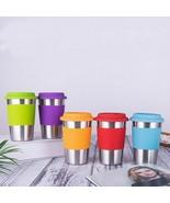 Stainless Steel Coffee Mug 500ml Tea Cup Non-slip Sleeve Travel Silicone... - $21.69