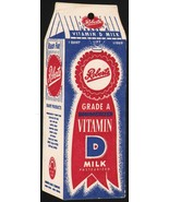 Vintage tally card ROBERTS Vitamin D Milk Omaha Nebraska die cut carton ... - $9.99