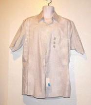 Van Huesen Men's Button Front Short Sleeve Dress Shirt Size Large 16-16 1/2 - $16.12