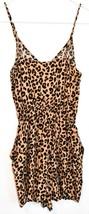 H&M Divided Women's Leopard Animal Print Playsuit Jumpsuit Romper Size 0 image 2