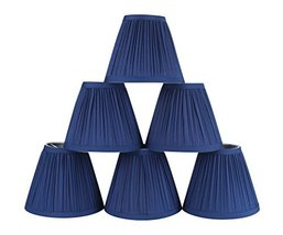 Urbanest Set of 6 Mushroom Pleated Chandelier Lamp Shade, 3-inch by 5-inch by 4. - $33.65